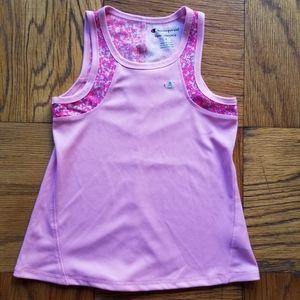Girl's Champion Pink Athletic Tank Top EUC Sz 4